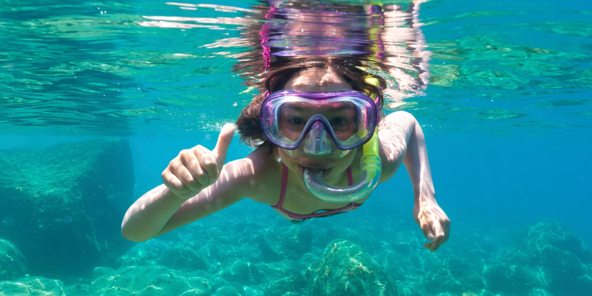 Snorkel Equipment in Cancun, Mexico