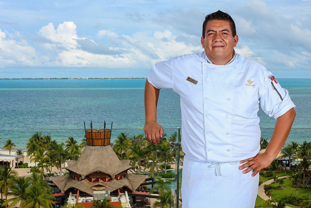 Chef Jose Alfredo Bazán Bello at La Casona Restaurant