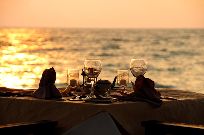 Dinner for 2 on the Beach