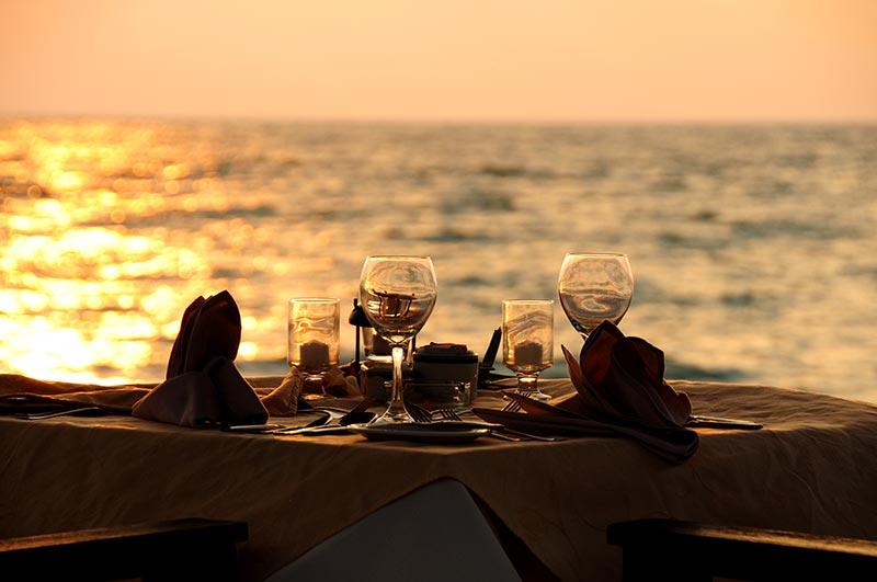 Dinner for 2 on the Beach