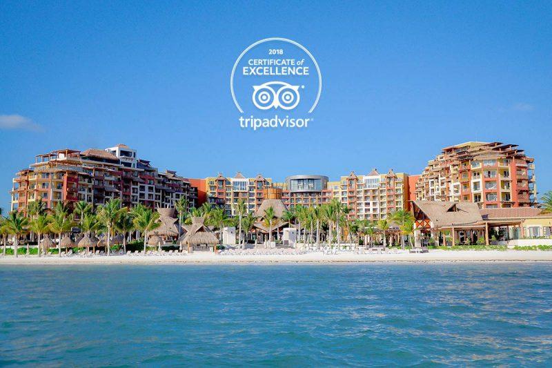 Villa del Palmar Cancun receives 2018 TripAdvisor Certificate of Excellence
