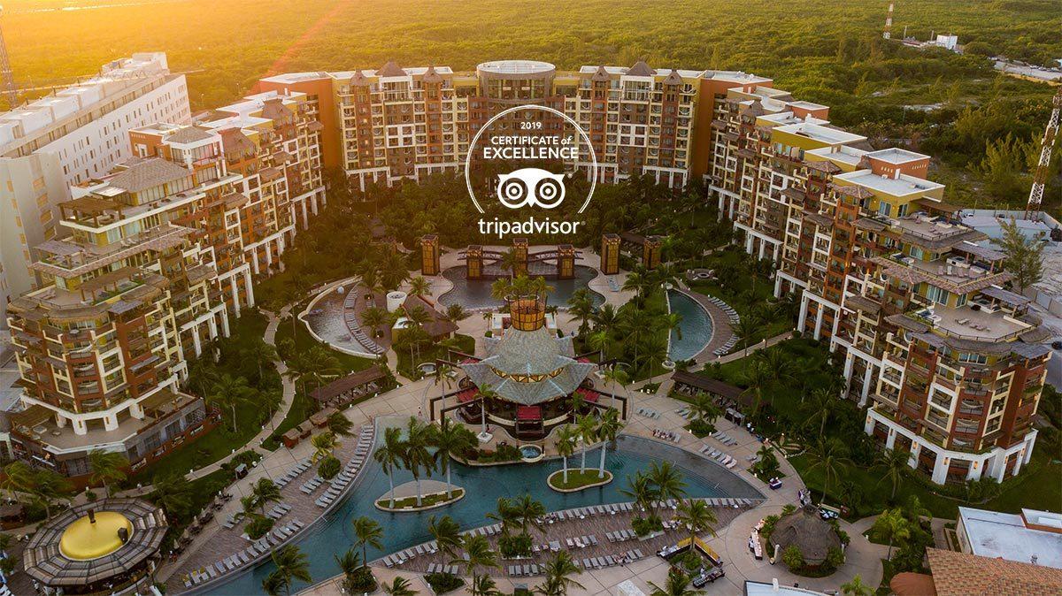 Villa del Palmar Cancun Earns TripAdvisor Certificate of Excellence in 2019