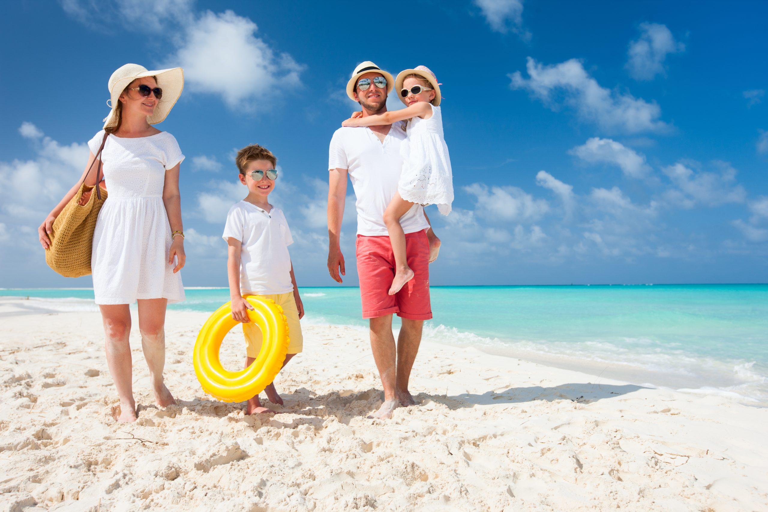 Family on a Caribbean vacation