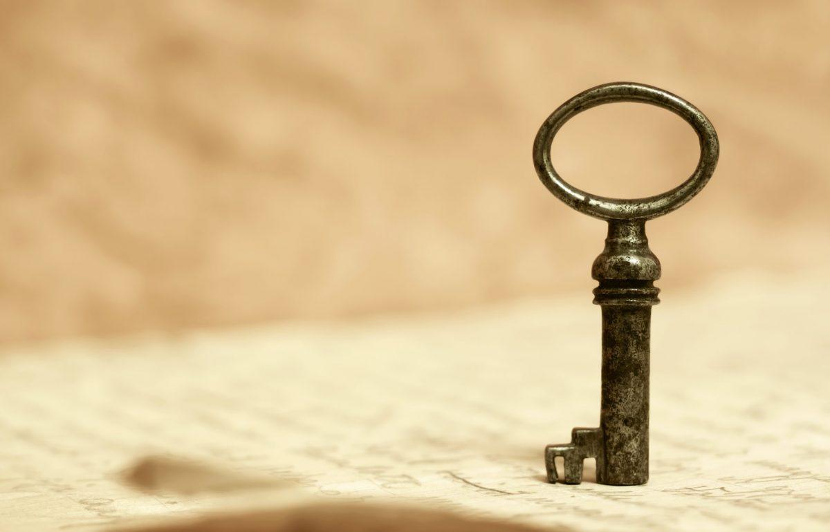 Lucky key charm