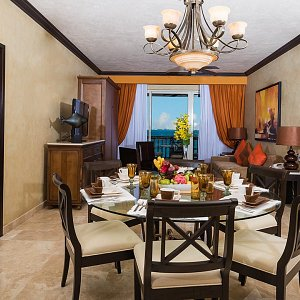 Dining Living 2 Bedroom Penthouse Villa del Palmar Cancún