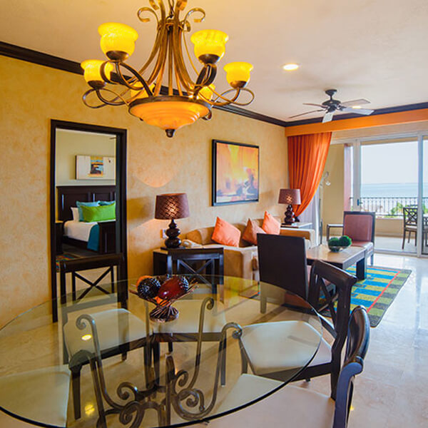 Living Room Two Bedroom Suite at Villa del Palmar Cancun