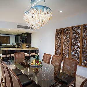 Three Bed Loft Dining Room Villa del Palmar Cancun